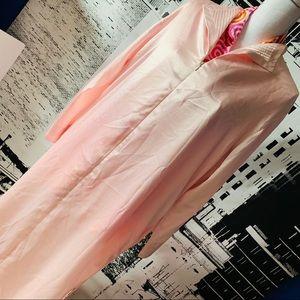Oscar DeLa Renta Silk Front Zip Robe L